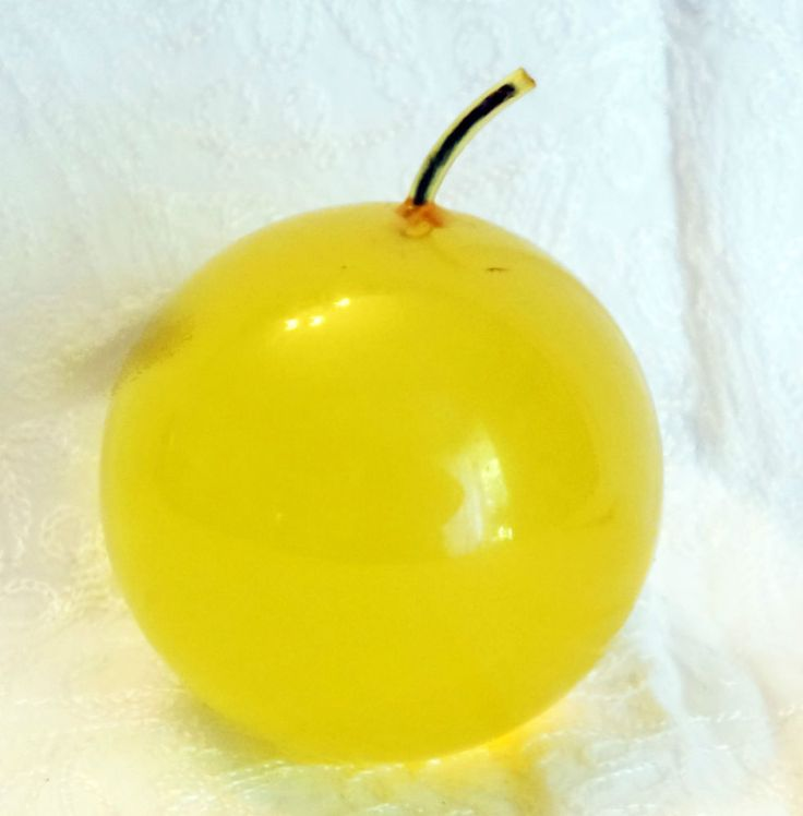 Vintage Yellow Apple Art Glass Paperweight
