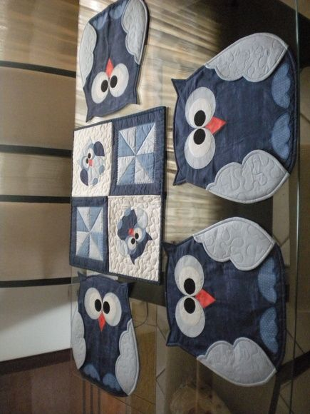 Owl placemats - pic only