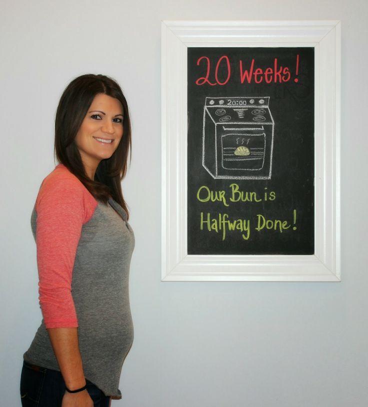 The Princess Diaries - 20 week baby bump chalkboard tracker - HALFWAY!