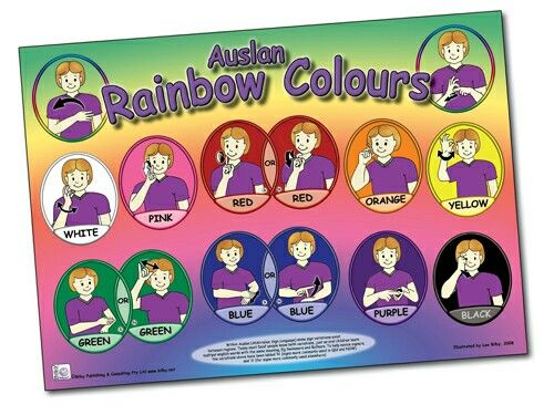 Auslan Colour Signs - correct for use in Australia