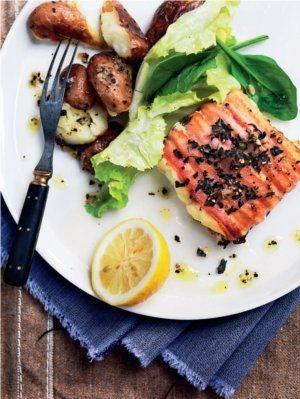 Ovnbagt fisk med bacon og oregano   Spis Bedre
