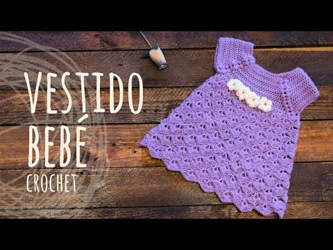 Vestido para Bebe 0 meses Crochet Pistache – YouTube