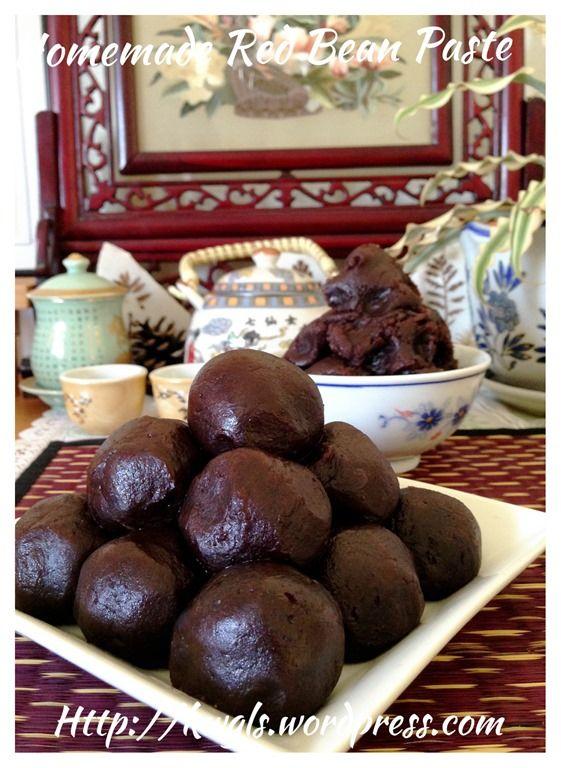 Homemade red bean paste #guaishushu #kenneth_goh    #red_bean_paste  #红豆沙馅