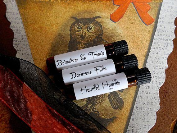 Halloween Perfume set # 3: Sweet and Sinister Sampler set , halloween perfume, fall perfume, vampire perfume