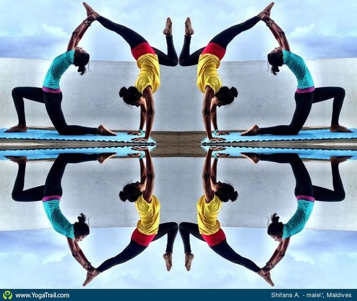 """#Yoga Poses Around the World: """"Handstand - by Shifana A."""""""
