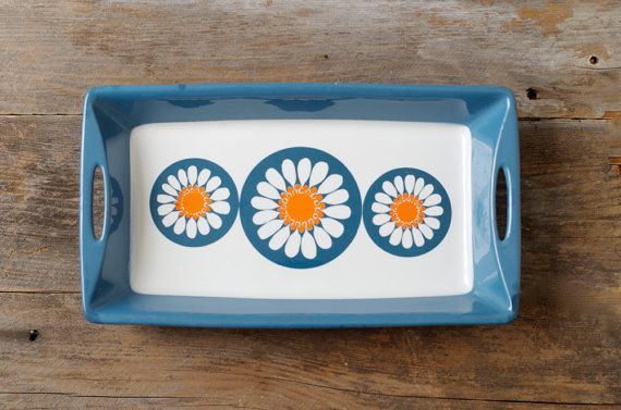 Vintage Figgjo Flint Turi Daisy Tray - Made in Norway