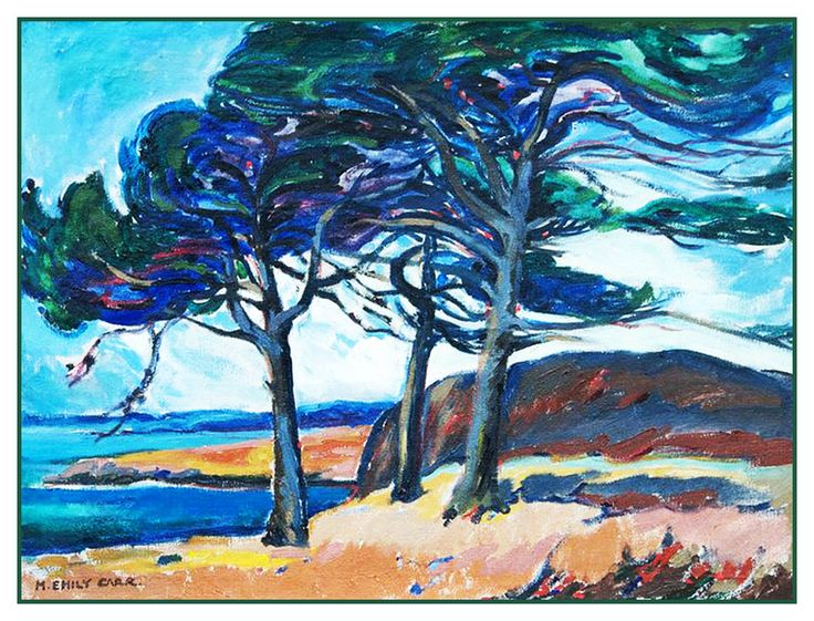 Emily Carr's McCaulay Point British Columbia Canada Landscape Counted Cross Stitch or Counted Needlepoint Pattern