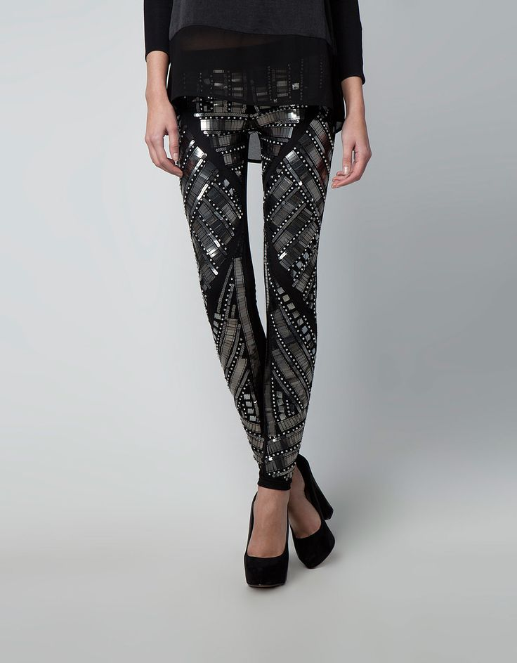 Bershka Ireland - Bershka appliqué and sequin detail leggings - Best 25+ Sequin Leggings Ideas On Pinterest Sequin Pants