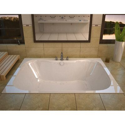 Dominica 59 X 40 5 Rectangular Air Jetted Bathtub With Center Drain