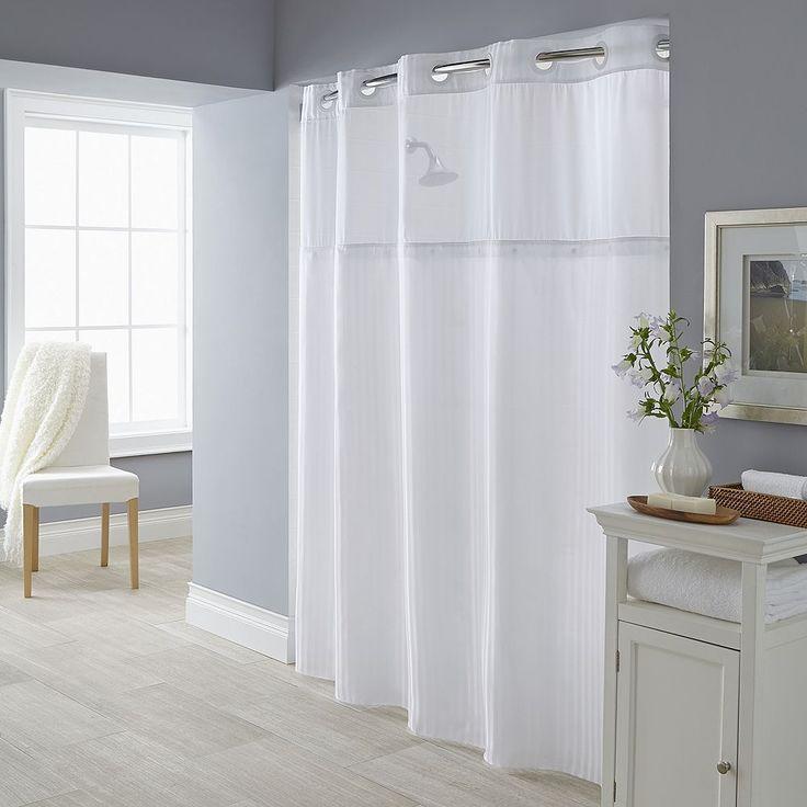 Beautiful Fabric Shower Curtain U0026 Liner Set, Beig/Green (Beig/Khaki)