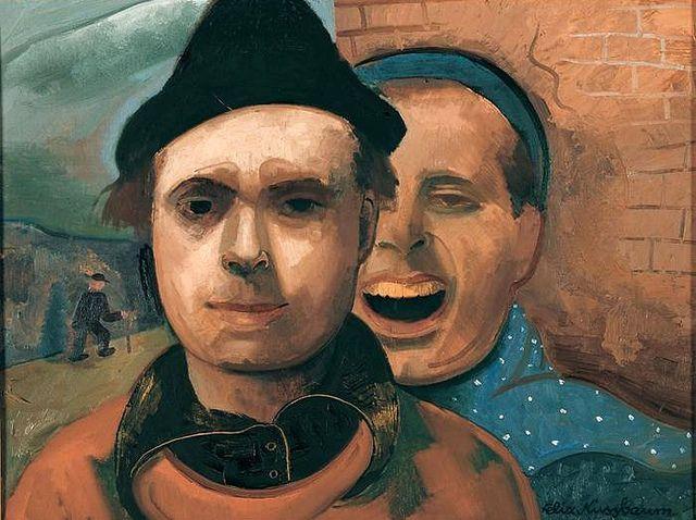 Nussbaum, Felix (1904-1944) - 1937 Self-Portrait with Brother (Felix Nussbaum House Osnabrück, Germany)
