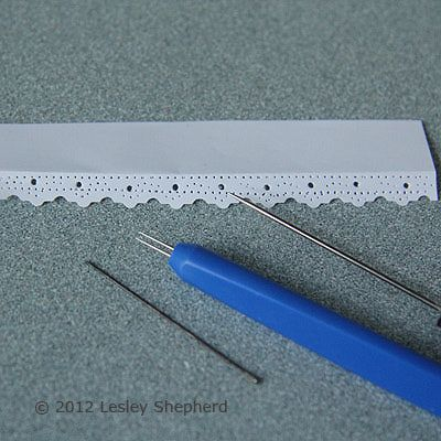 how to: paper lace strips to decorate shelves. Use Paper Piercing Tools To Mimic the Effect of Paper Lace in Miniature