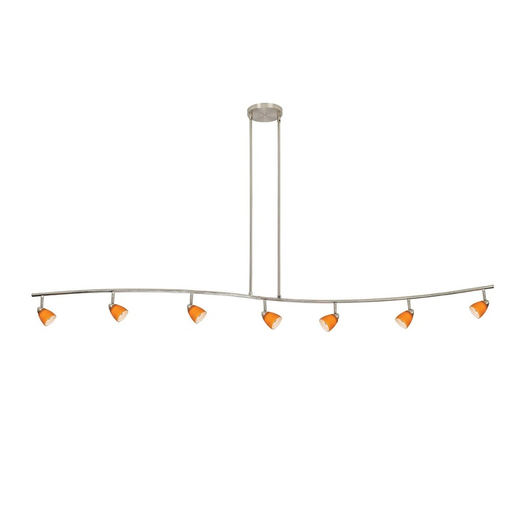 Cal Lighting 954-77L 7 Light Serpentine Track Lighting Kit