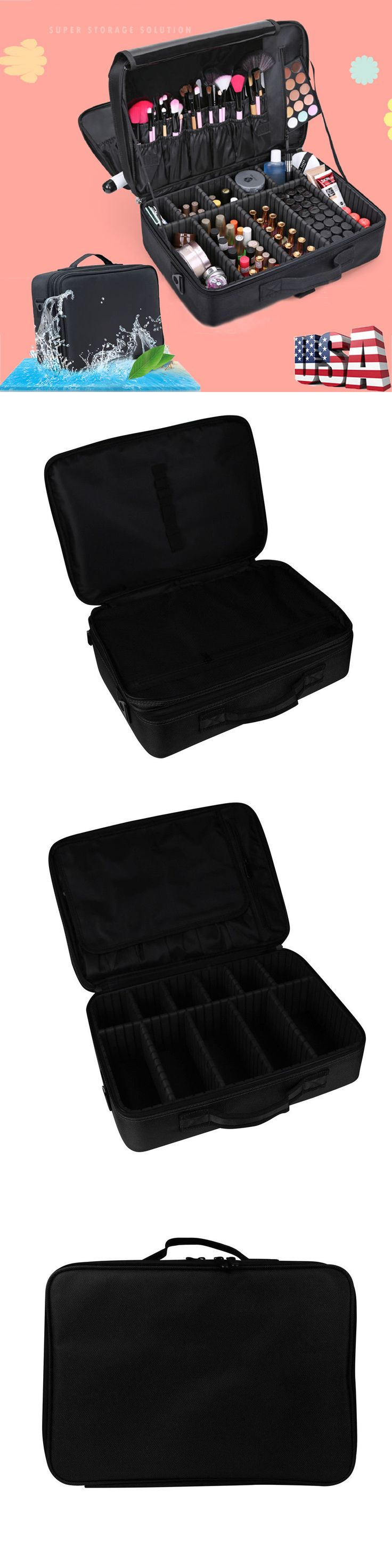 Makeup Bags and Cases: Professional Makeup Beauty Bag Cosmetic Case Storage Handle Organizer Artist Box -> BUY IT NOW ONLY: $37.77 on eBay!