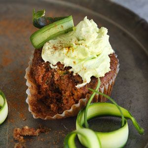 Courgette Cupcakes with Avocado Cream Cheese Icing | Crush Magazine Recipe