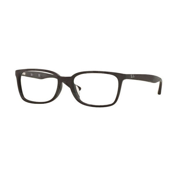 Ray-Ban RX5332D Highstreet Asian Fit 5508 Eyeglasses ($83) ❤ liked on Polyvore featuring men's fashion, men's accessories, men's eyewear, men's eyeglasses, matte brown, mens eyewear, ray ban mens eyeglasses, mens wayfarer eyeglasses and mens eyeglasses
