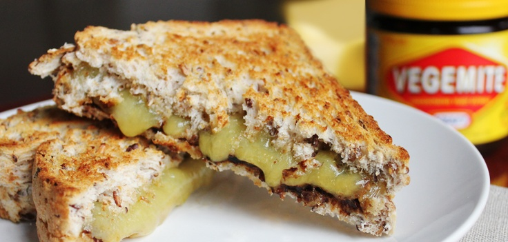 A sometimes work day breakfast! Vegemite and cheese toasties!