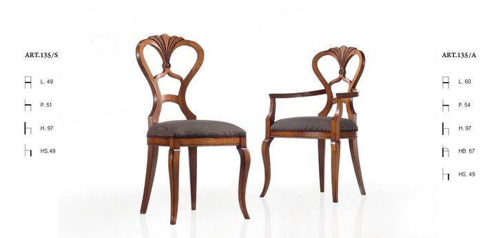 Klasszikus kárpitos székek / 135 - www.montegrappamoblili.hu