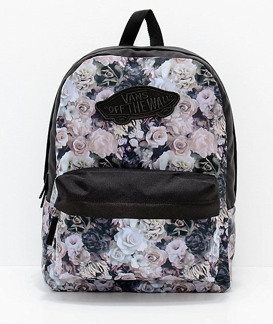 d79294adf Vans Realm Floral Black 22L Backpack in 2019 | Passion for Fashion ...
