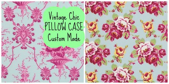 Pillow Case SHABBY Chic BEDDING   Standard Size 20 by SewSewGlam, $19.00