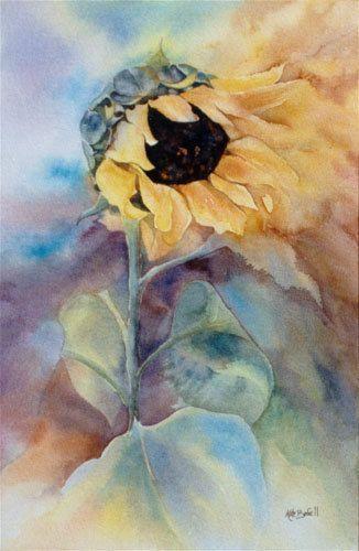 Girasol glorioso, impresión de Giclee de una pintura de acuarela Original por Kate Bedell