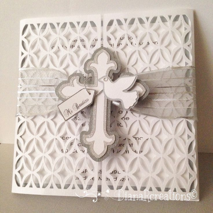 Handmade Baptism Invitation!