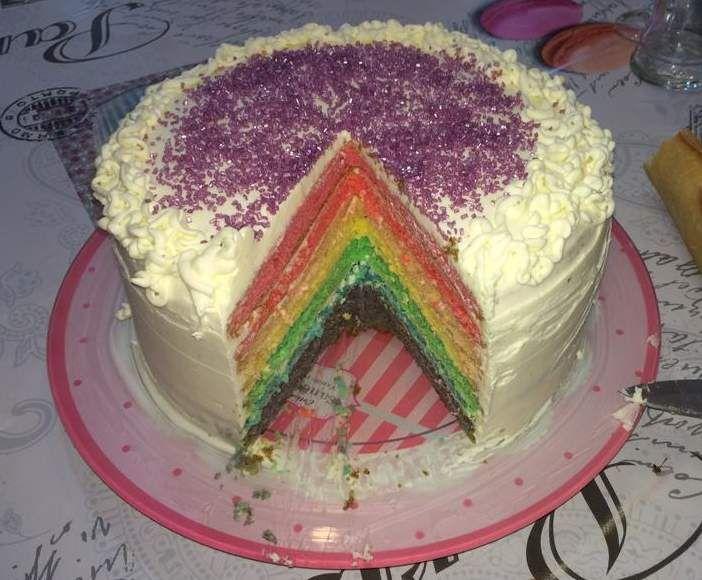 Rainbow Cake Creme Mascarpone Citron Vert