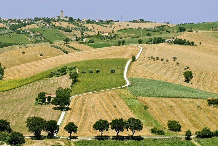 Montecassiano in Le Marche rijk aan historische monumenten waaronder een imposante kathedraal en kasteel