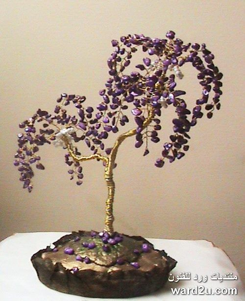 wire and beads tree