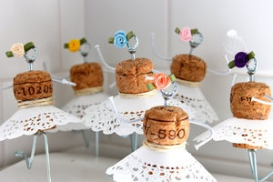 photo of Upcycled Wine Corks to Decorate Your Wedding