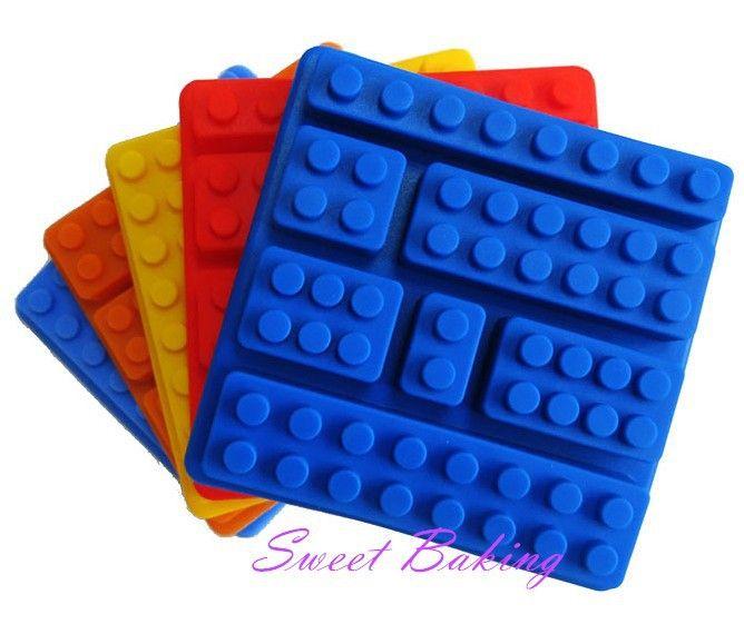Pastel de silicona moldes de construcción ladrillos Lego Robot molde del Chocolate del silicón bandeja en Moldes de Pastelería de Casa y Jardín en AliExpress.com | Alibaba Group