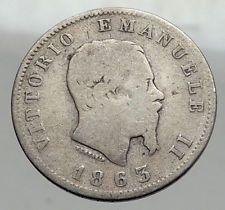1863 ITALY King Victor Emmanuel II Silver 1 Lira ITALIAN Coin with Crown i62970 http://lukebadcoe.blogspot.com/2017/09/1863-italy-king-victor-emmanuel-ii_6.html
