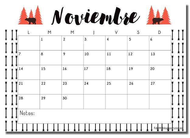 Calendario descargable noviembre                                                                                                                                                                                 Más
