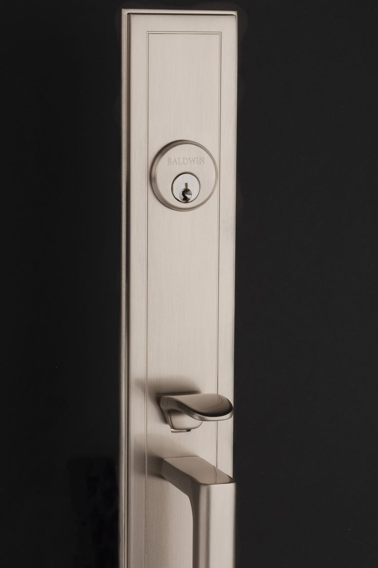 Hollywood Hills Full Escutcheon Handleset In Satin Nickel