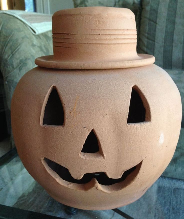 Pumpkin Jack O'Lantern Halloween Large Terra Cotta Candle ...