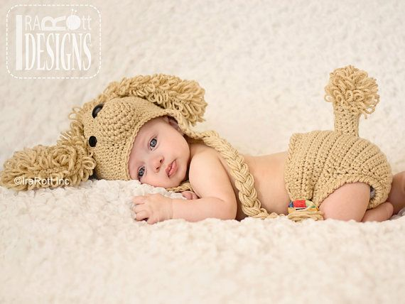 PATTERN Loopy the Poodle Hat & Diaper Cover Crochet PDF