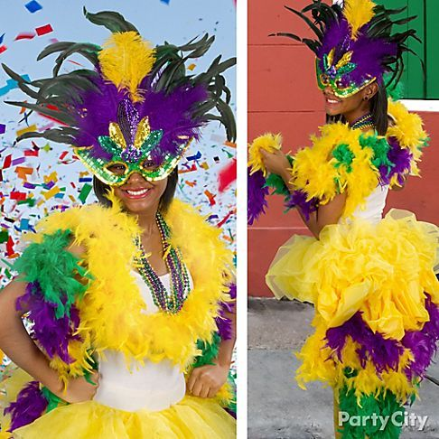 Strut along Bourbon Street in an elaborate Mardi Gras mask and DIY bustle - click the pic for deets!