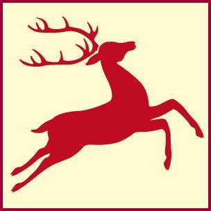 Reindeer Stencil 2