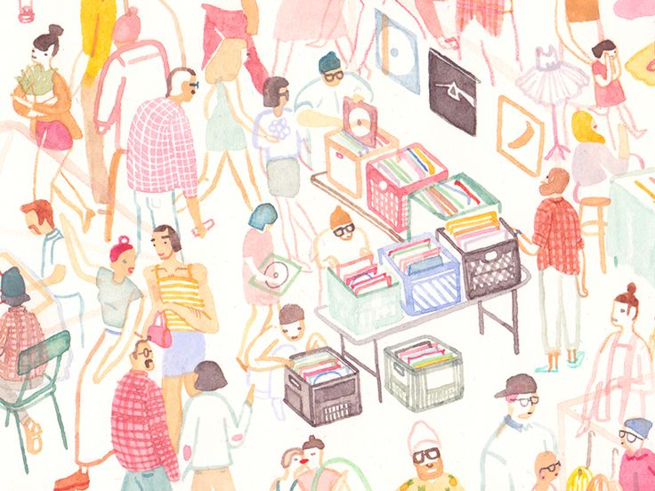 Busy Illustrated Scenes by Monica Ramos