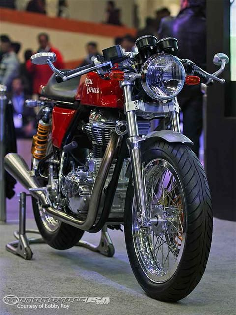 Who's ready to climb aboard Royal Enfield's Cafe Racer and attempt to join the ton-up club?
