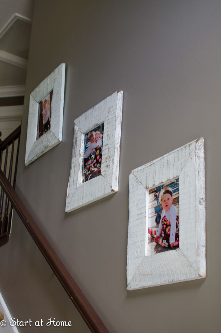 Pallet Wood Pictures Frames are up next in my living room re do