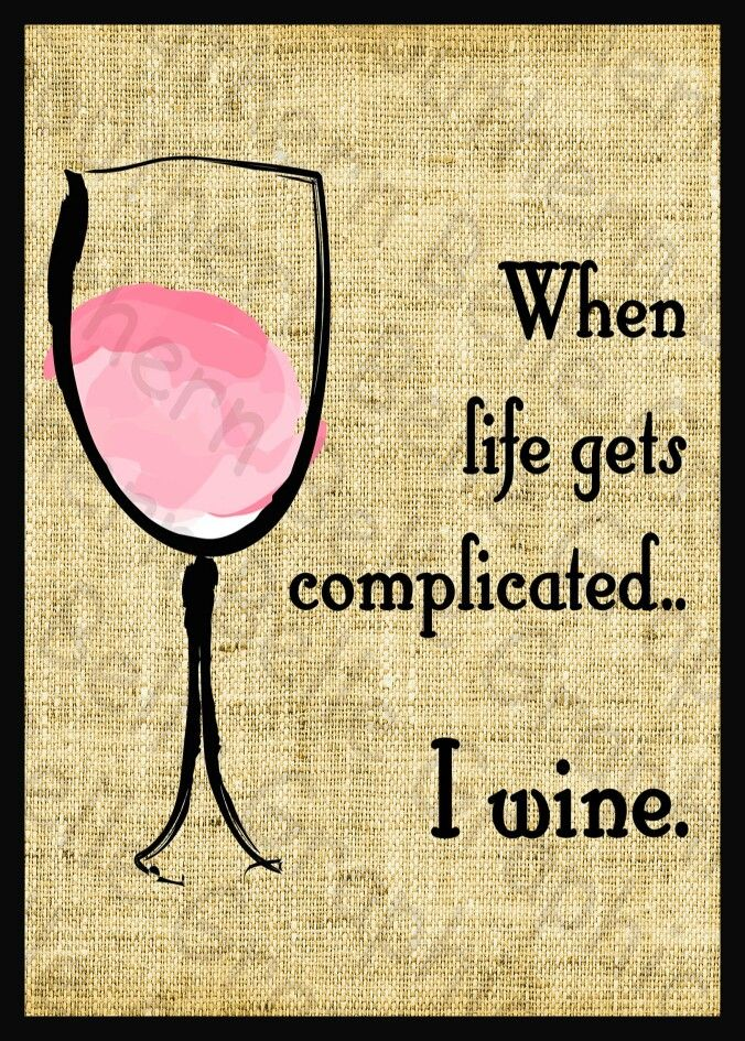 Just Wine __[Via Etsy - SouthernSass Graphics]