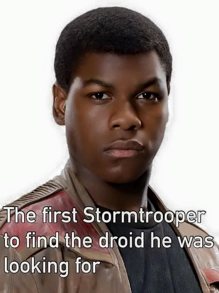 First Stormtrooper to find the droid he was looking for