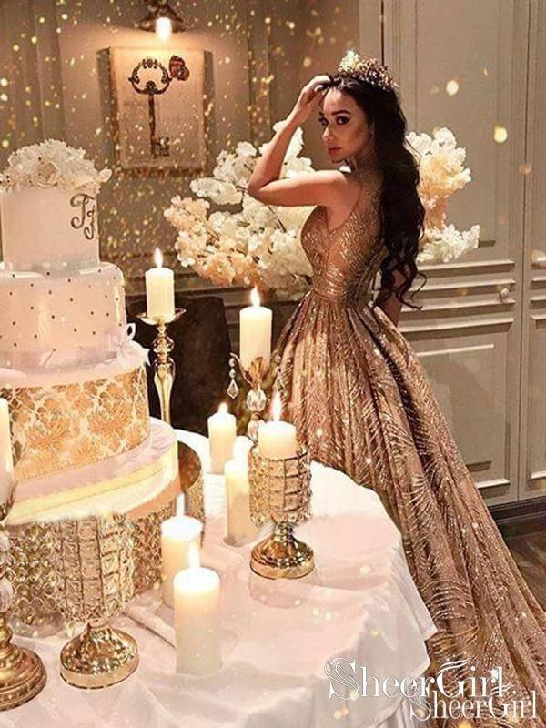 2d12afb8ee8d Ivory Long Sleeve Bridesmaid Dresses Sheath Formal Dresses ARD1840 in 2019  | SheerGirl | Wedding, Wedding dresses, Quinceanera dresses