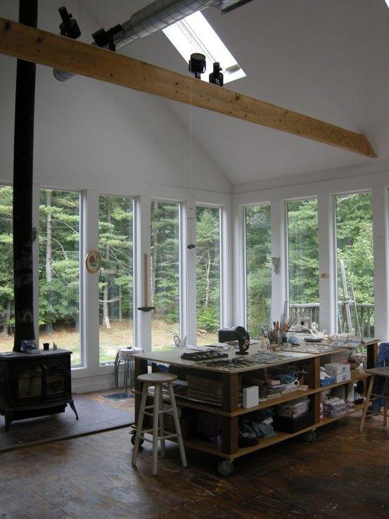 Workspace with windows