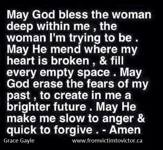May God bless the women deep within me....