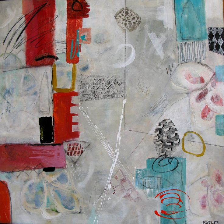 """Mixed Media on Cradled board  Françoise Barnes """"ALL IS WELL"""""""