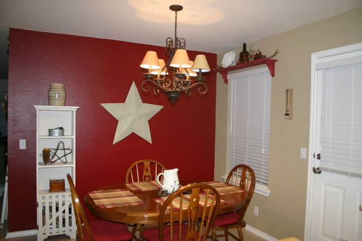 Black and barn red country kitchens message boards if for Accent wall color ideas for kitchen
