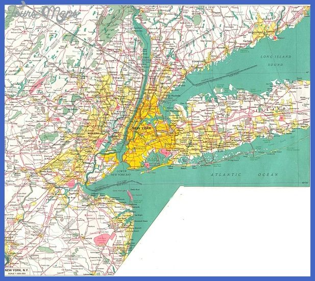 cool Map Of New York City