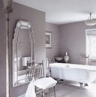 lilac bathroom, grayish purple bathroom grayish bathroom